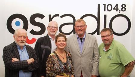 Gesamtvorstand (v.l.n.r. Henrik Peitsch, Björn Kemeter, Claudia Imig, Bernhard Wellmann, Detlef Beier © osradio