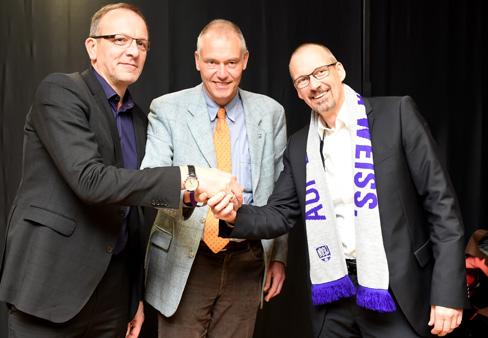 © vlf.de _Neu als Vize im Präsidium Sascha Heise (r.) neben Vizepräsident Uwe Brunn (l.) und Präsident Dr. Hermann Queckenstedt