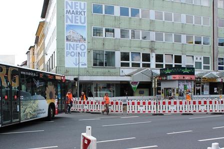 Neumarkt nur für Busse frei © osradio