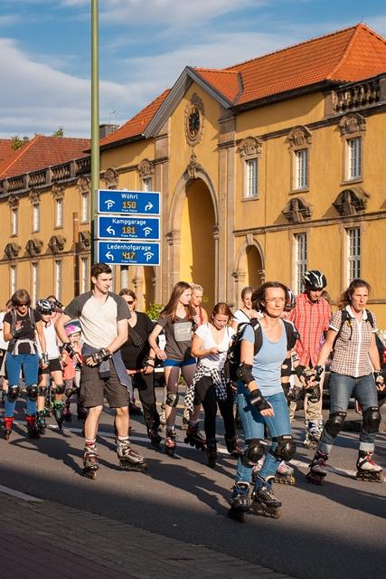 Der StadtSportBund richtet am 10. August die letzte Skate-Night des Jahres aus.