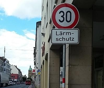 Lärmschutz an der Johannisstraße in Osnabrück