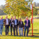 Freuen sich über das erweiterte Fahrplanangebot für die VOS NordOst: Holger Winkelmann (Winkelmann-Reisen), Timo Natemeyer (Bürgermeister Bad Essen), Frank Bühning (VLO Bus GmbH), Jörg Schneider (Weser-Ems Bus), Josef Brockmeyer (Planungsgesellschaft Nahverkehr Osnabrück (PlaNOS)) und Torsten Gottlieb (Gottlieb-Reisen GmbH & Co. KG). Bild:Stadtwerke Osnabrück