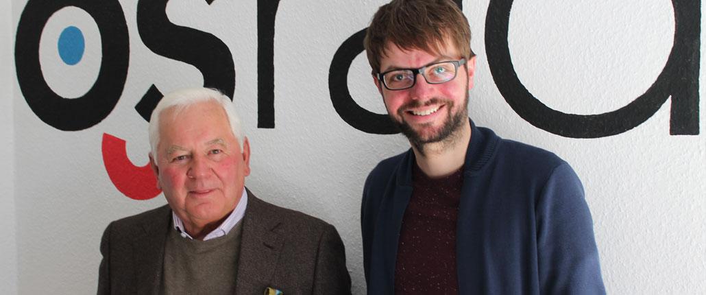 Ulrich Kasselmann (li.) und OS-Radio Reporter Sören Hage