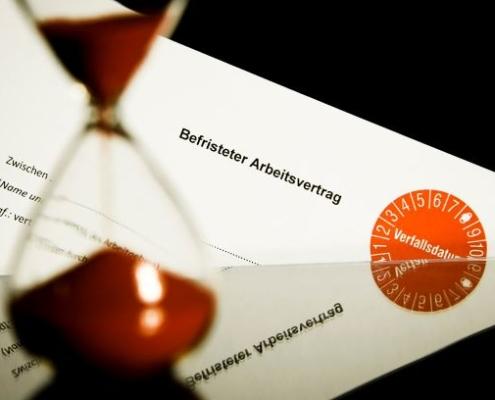 Befristeter Arbeitsvertrag - Foto IG Bau